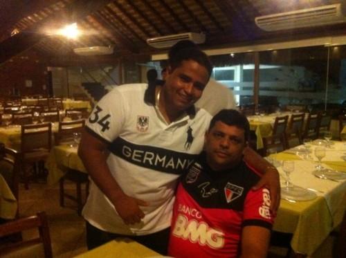 Jornalista Luís Pablo e o pré-candidato a vereador Carioca