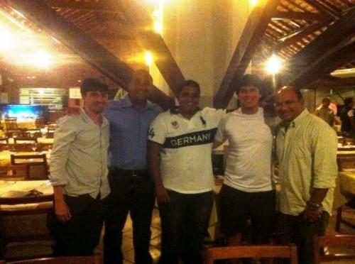 Secretário de Juventude André Campos, deputado Roberto Costa, blogueiro Luís Pablo, deputado André Fufuquinha e o empresário José Luna