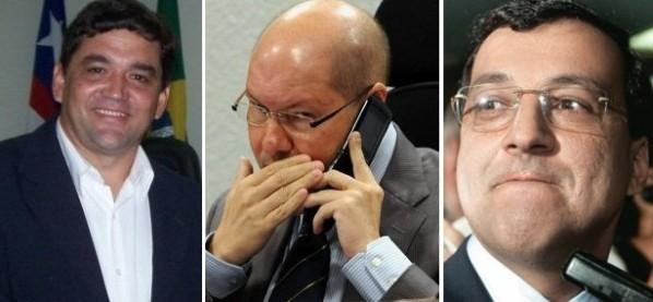 Vice-prefeito Sérgio Bastos, senador Demóstenes torres e o bicheiro Carlinhos Cachoeira