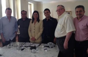 Aristides, Leandro Roseana, Eric, Milhorem e Antônio Pereira