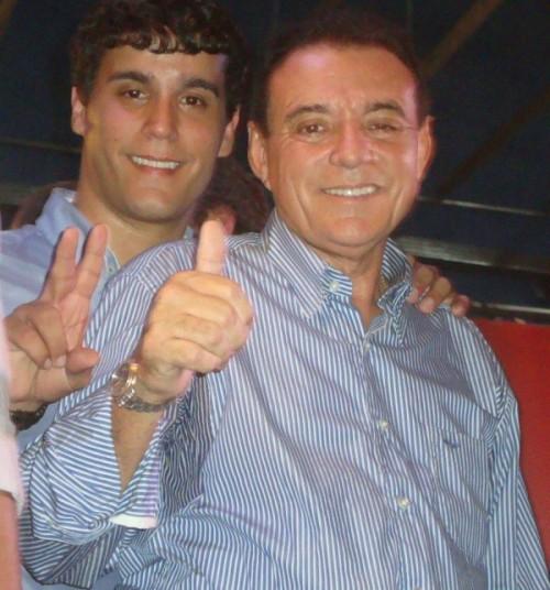 Henrique Cutrim ao lado do pai, deputado Raimundo Cutrim