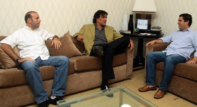 Empresário Marquinho Regadas, senador Edinho Lobão e o prefeito Edivaldo Holanda Júnior