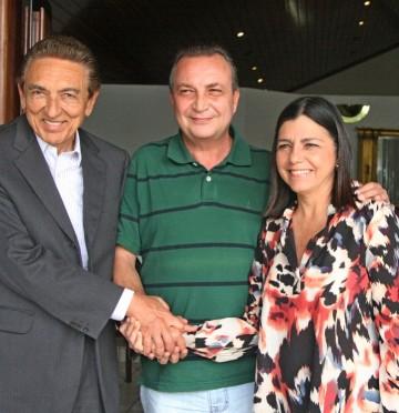 Ministro Edison Lobão, secretário Luis Fernando e governadora Roseana Sarney