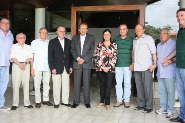 Reunião na residência do senador João Alberto, com a cúpula do PMDB do Maranhão