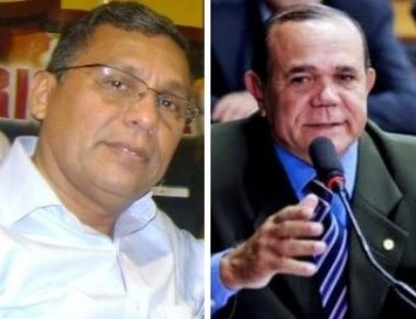 Ex-prefeito Aldenir Santana e o deputado Chiquinho Escórcio