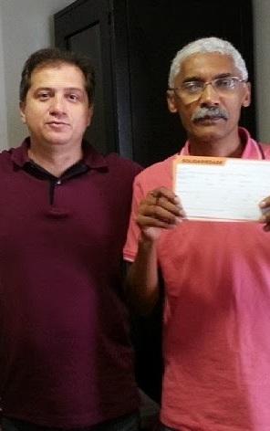 Simplício Araújo e Domingos Dutra durante filiação ao partido Solidariedade