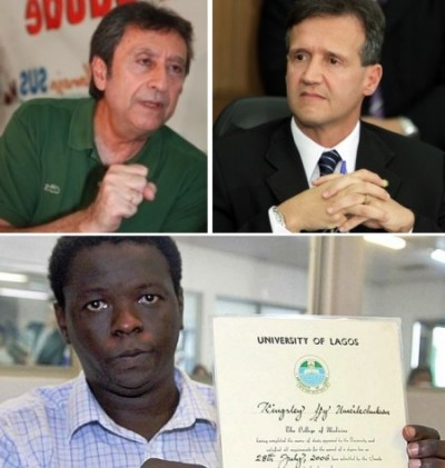 Secretários Ricardo Murad e Aluísio Mendes acusados pelo médico nigeriano Kinglsley de racismo