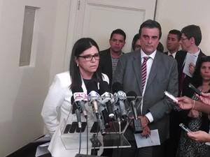 Governadora Roseana Sarney, durante anúncio de plano emergencial para sistema carcerário