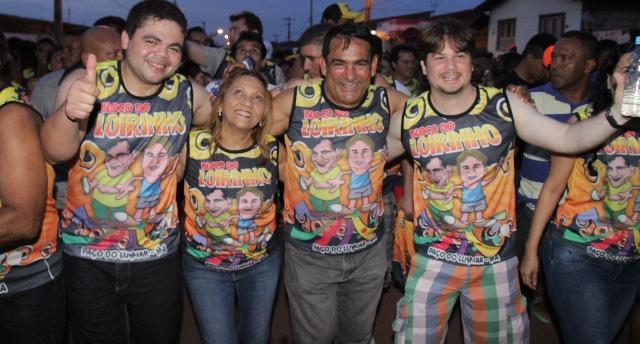 Deputado Davizinho Júnior, o prefeito Professor Josemar ao lado da primeira dama e o vice-prefeito Marconi Lopes