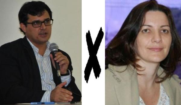 Delegado Cleopas Isaías Santos e a promotora Karina Freitas