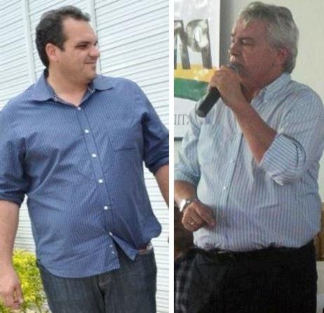 Ike Aroso e o seu genro Arnaldo Melo