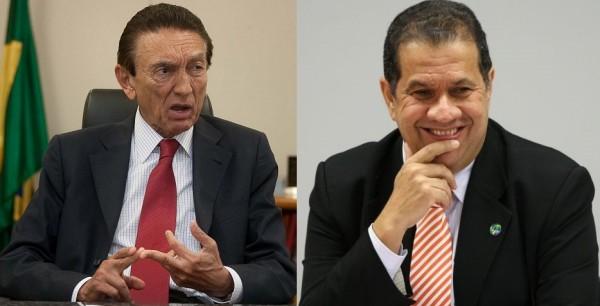 Ministro Edison Lobão e o presidente do PDT, Carlos Lupi