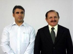 Augustus Gomes ao lado do pai prefeito Chico Gomes