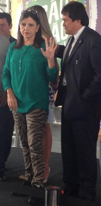 Roseana Sarney e o deputado Léo Cunha
