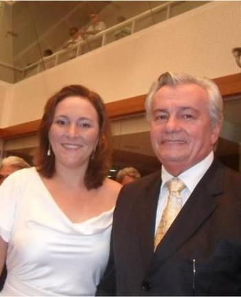 Nina Melo e o pai Arnaldo