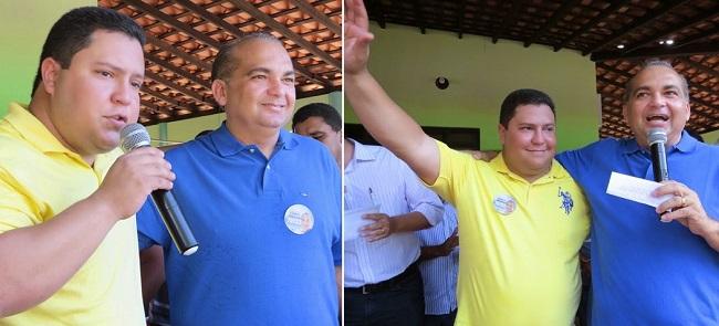 Fábio Braga ao lado do prefeito Maurício Fernandes, de São Benedito do Rio Preto