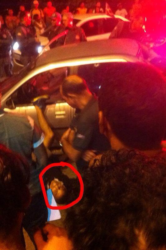 Policial executado por policiais (Foto: Blog do Marcelo Vieira)