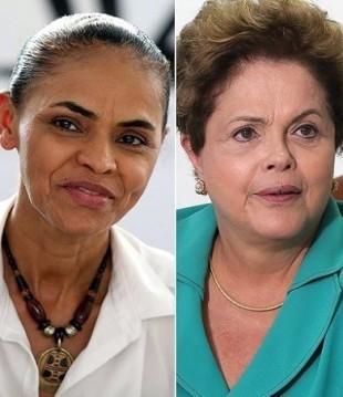 Marina Silva e Dilma Rousseff