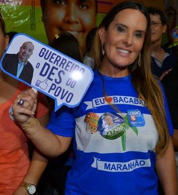 Paulinha Lobão, mulher do candidato Edinho
