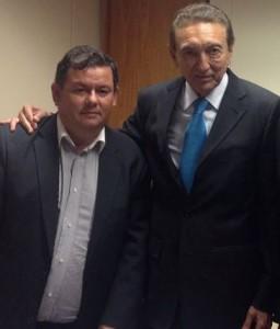 Prefeito Ubiratan Jucá e o ministro Edison Lobão