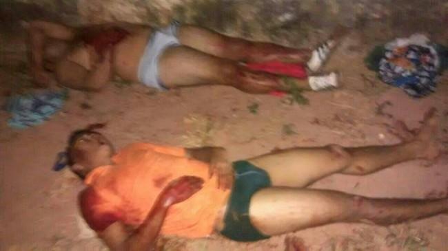 Presos que foram baleados ao tentarem fugir (Foto: Blog do Luis Pablo)